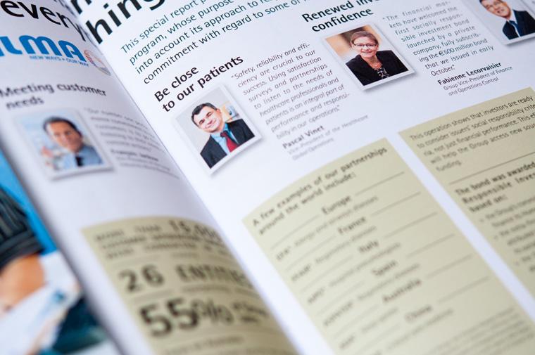 Magazine Alize, détail d'infographie