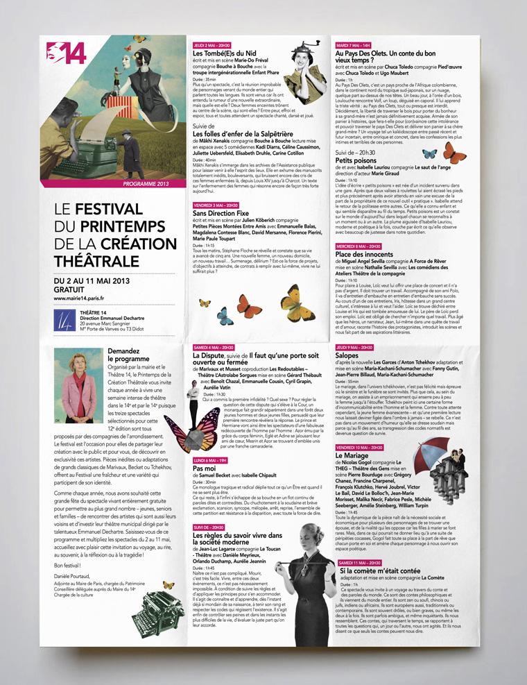 Festival du printemps de la création théâtrale