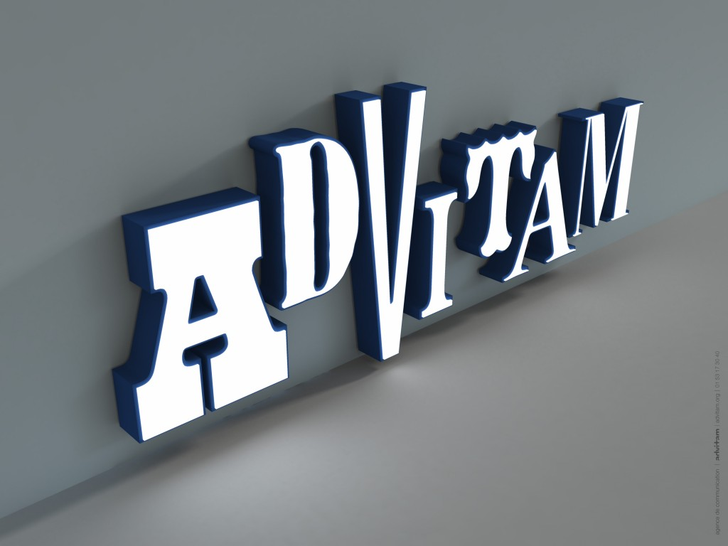 Advitam logo block type-lighted