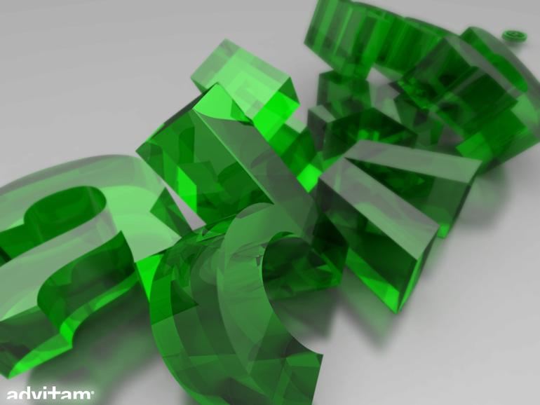 Advitam Logo 3D verre