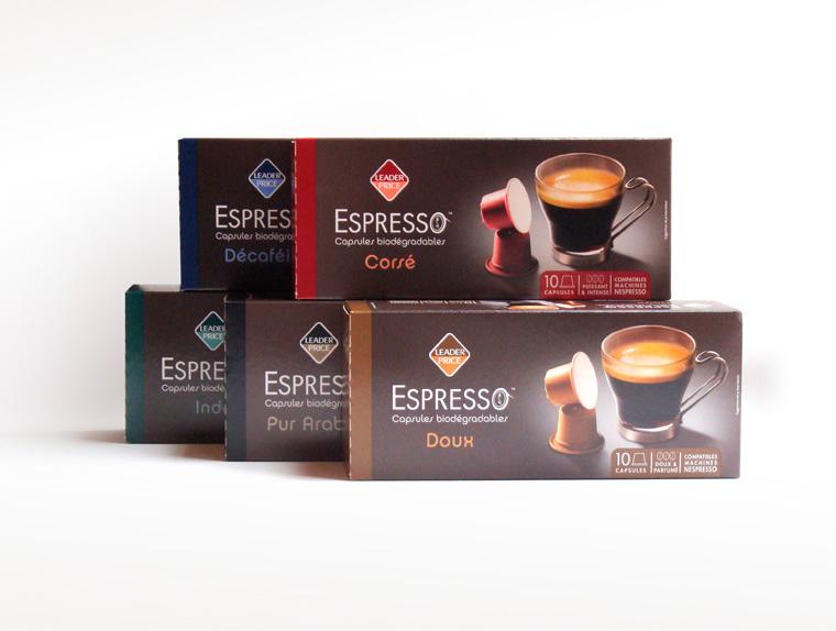 Gamme packaging Espresso Leader Price