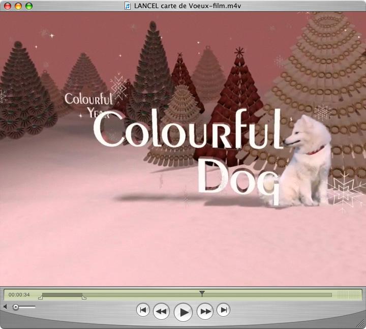 Film d'animation pour carte de voeux