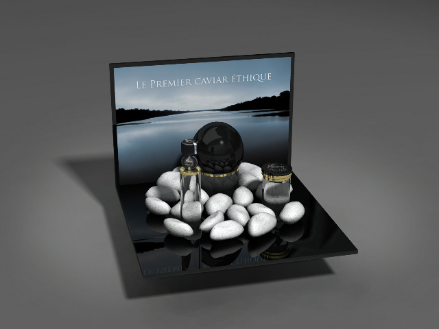 Zwyer Caviar stand 3D