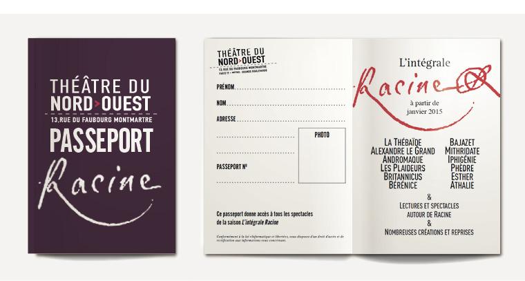 Théâtre du Nord passeport Intégrale Racine 2014-2015