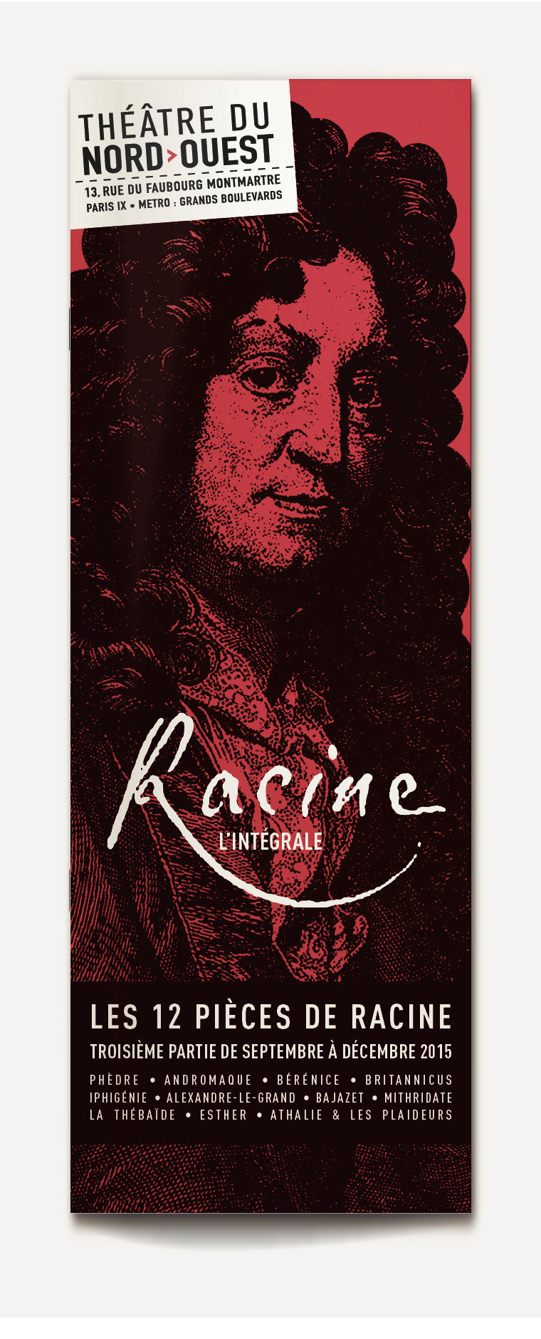 Théâtre du Nord programme Intégrale Racine 2014-2015