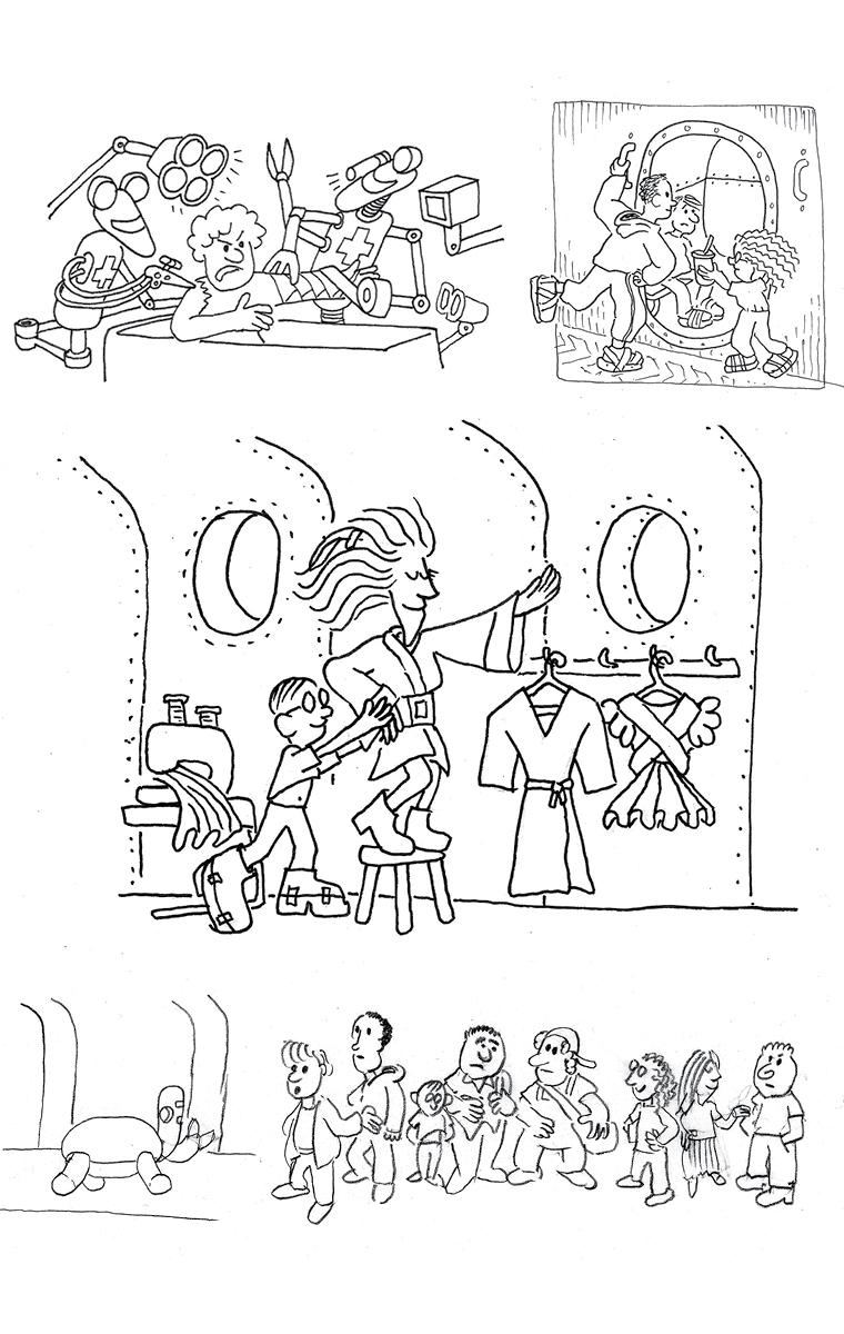 Illustrations pour l'intérieur du livre