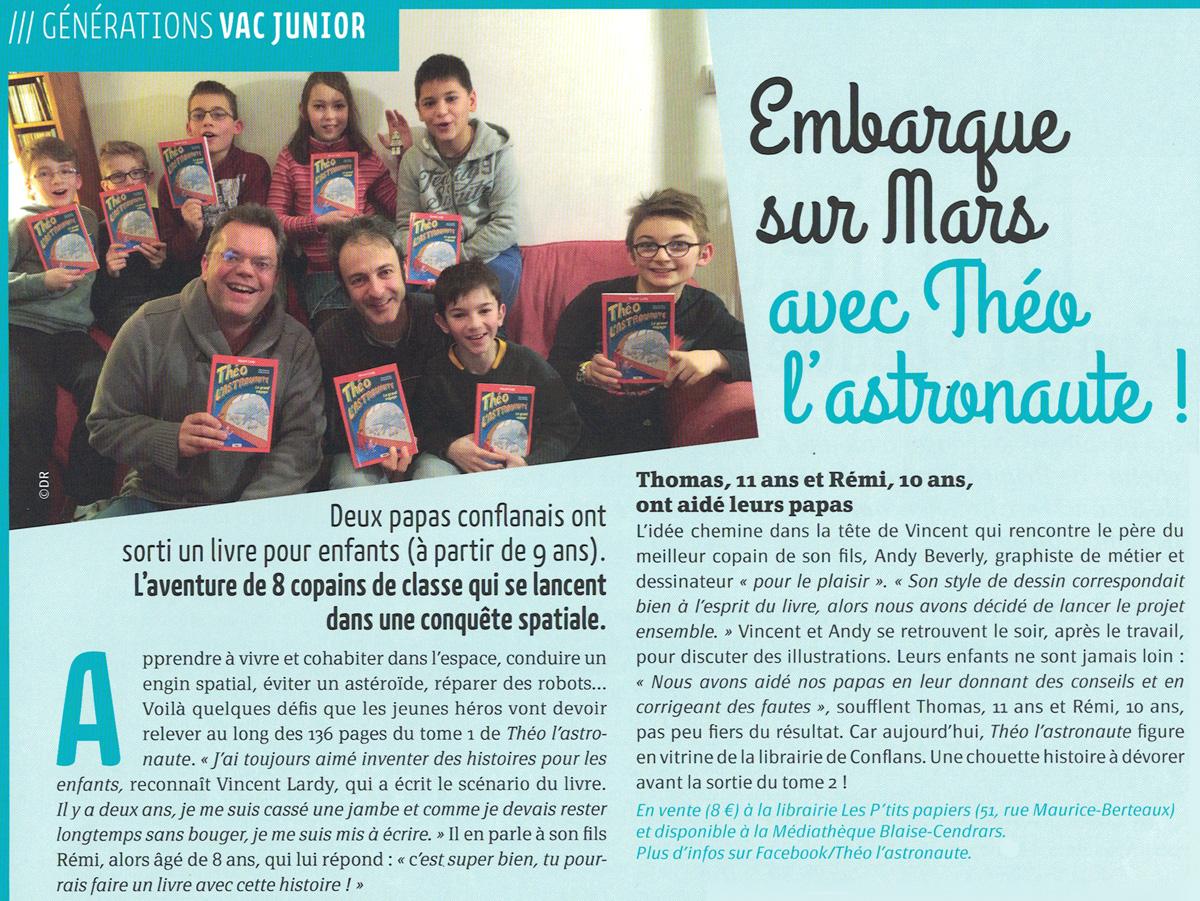 Article paru dans le magazine VAC pour le numéro de MARS...